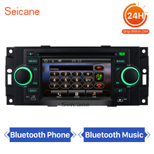 "Seicane 5"" Car DVD GPS Navigation for 2006-2008 Jeep Commander Compass with TV Tuner Radio Bluetooth Steering wheel control(China)"