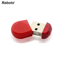 Reboto Super Mini Red Tiny 64GB USB Flash Drive Pen Drive 32GB 16GB 8GB 4GB USB 2.0 Memory Stick Pendrive Flash Drive For Gift