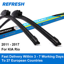 "Refresh Wiper Blades for KIA Rio UB 26""&16"" Fit Hook Arms 2011 2012 2013 2014 2015 2016 2017(China)"