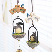Studio Ghibli TOTORO Miyazaki Hayao My Neighbor TOTORO Windbell Wind Bell PVC Action Figure Resin Collection Model Toy Doll Gift
