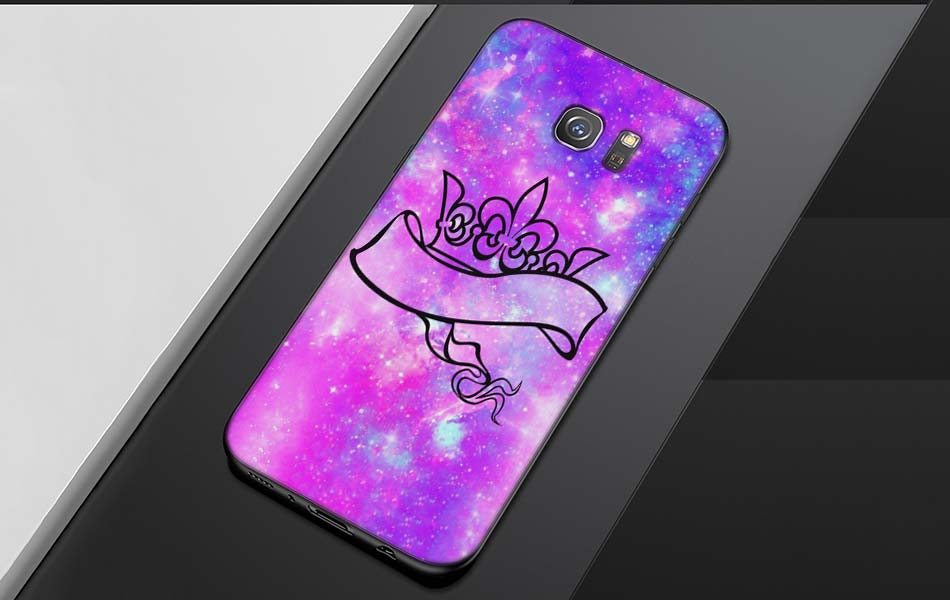 King Queen princess Pattern Soft Silicone Black Cellphone Cases for Samsung S7 S7edge S8 S8Plus S9 SPlus Note 8