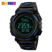 2017 SKMEI Military Multifunction Sports Watches Man Compass Wristwatches Chrono Countdown LED Watch Men Relogio Masculino Clock