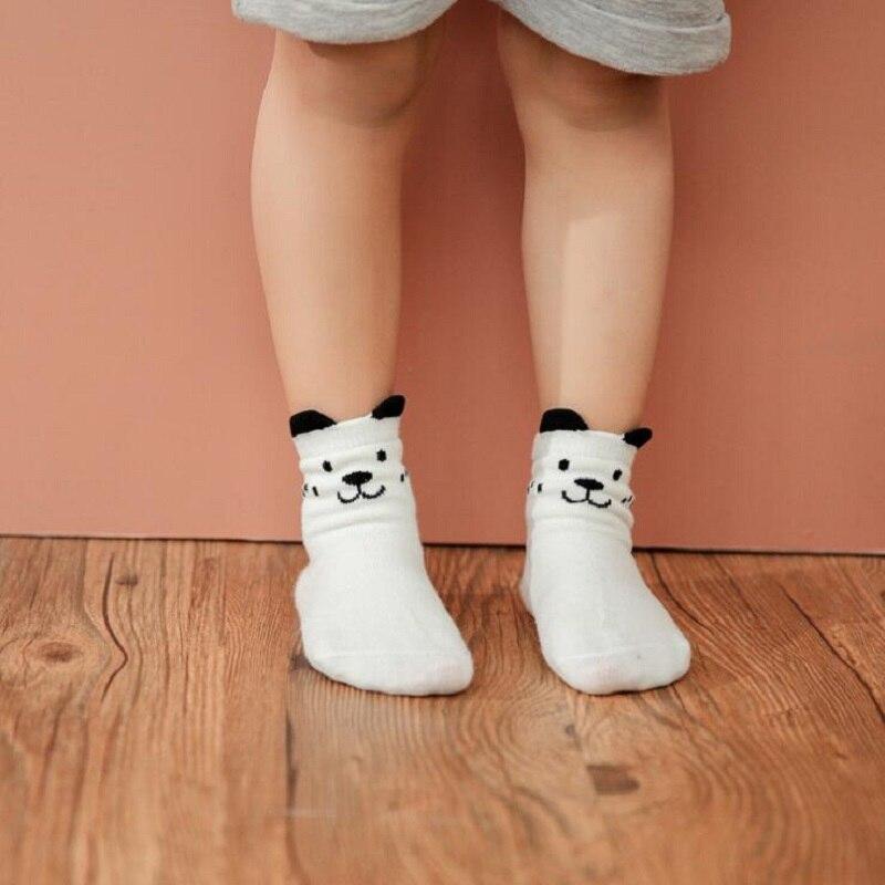 Newborn Infant Kids Anti-slip Ankle Socks Bear Rabbit Pattern Cotton Socks