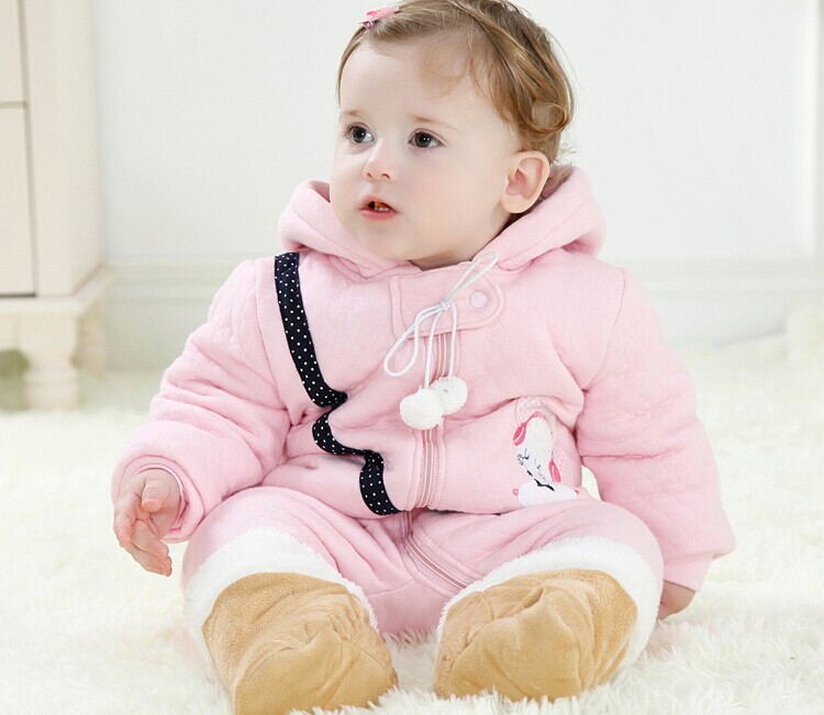Free shipping The 2014 winter new baby cartoon  cotton climb clothes kids Santa modeling romper A366<br><br>Aliexpress