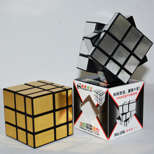 2PCS Original Shengshou Magic Speed Mirror Block 3x3x3 Cube Stickers Professional Puzzle Toys For Children(China)