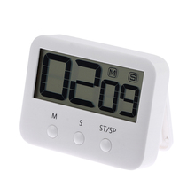 Square Magnetic Large LCD Digital Kitchen Soup Cooking Electronic Timer Count Up Down Alarm Clock 24 Hours with stand