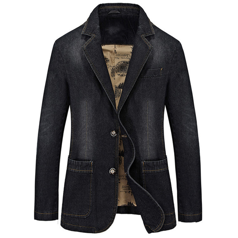 European Military Designer Men Denim Jacket and Coats XXXXL Plus Size Man Dress Suit Jacket Overcoats Spring Mens Brand Clothing