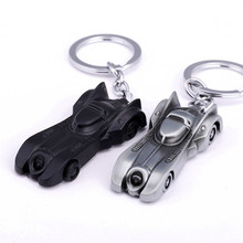 2 Color Dark Knight Batman Car Model Batmobile Keychain Metal Key Ring Chain Superman Jewelry Chaveiro Accessory Gift Sleutelhan