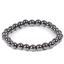 Fashion Jewelry Stretch Black 8MM Magnetic Hematite Healing Bracelet 1Pcs
