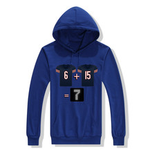 2017 Chicago Jay Cutler Brandon Marshall 6 + 15 will equal 7 points Bears Men Sweashirt Women hoodies(China)