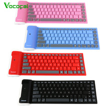 Vococal 109 Keys USB Silicone Rubber Waterproof Flexible Foldable Keyboard Key Board For Android IOS Apple iPad 1 2 3 4 5 Mini(China)