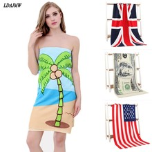 70 x 140 cm Fiber Microfiber Active Printed Euro Dollar Beach Bath Towel Super Absorbant Home Textile Large Thick Towel