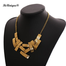 2017 Original design golded Geometric choker necklace exaggerate Magazine garment big statement necklace Jewelry Kolye Collier