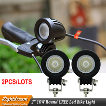 10W LED Work Light 12V 24V Car Auto SUV ATV 4WD AWD 4X4 Bike Wagon Offroad LED Driving Fog Lamp Motorcycle Truck Headlight x2pcs(China)