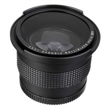 Lightdow 52MM 0.35x Fisheye Super Wide Angle+Macro Lens for Nikon D7100 D5200 D5100 D3100 D90 D60 with 18-55mm Lens(China)