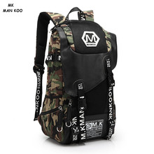 MAN KOO MK Male Large Capacity Canvas Backpacks Mens Camouflage Backpacking Big Backpack Sets Waterproof Mochila Masculina New