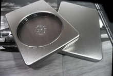 190*130*16mm silver rectangle storage tin box for CD or DVD disk(China)
