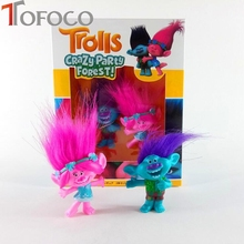 TOFOCO anime Trolls Anime Action Poppy Branch Plastic Vinyl Glue Model Figure Home Car Party Decoration Man/Women Gift Toy(China)