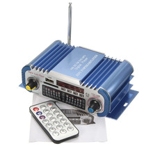 Free shipping Mini HiFi Car Home Power Amplifier FM Radio USB SD Audio MP3 Player with Remote high quality