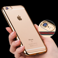 Luxury Plating Case For Iphone 6 Case Glitter Cover TPU for Iphone 7 Plus Case Luxury Silicone Capa for Iphone5 5SE 6S Plus Case(China)