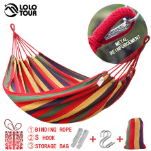 Double-Hammock Furniture Garden-Swing Hamaca Rede-De-Dormir Cotton 2-People Widen Canvas