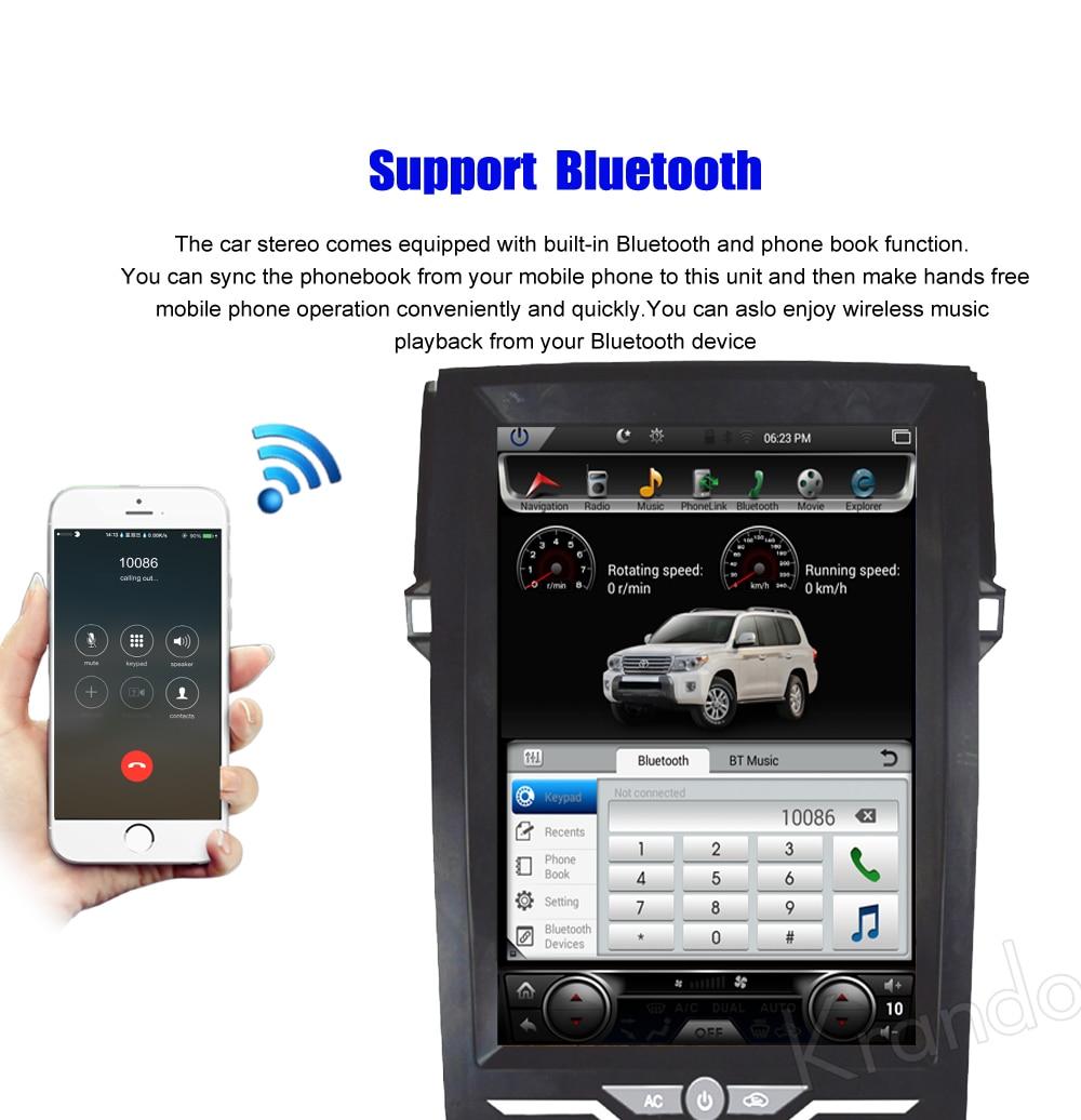 Krando Vertical screen android car radio multimedia for Toyota Reiz Mark 2010-2016 Big screen navigation with gps system (4)