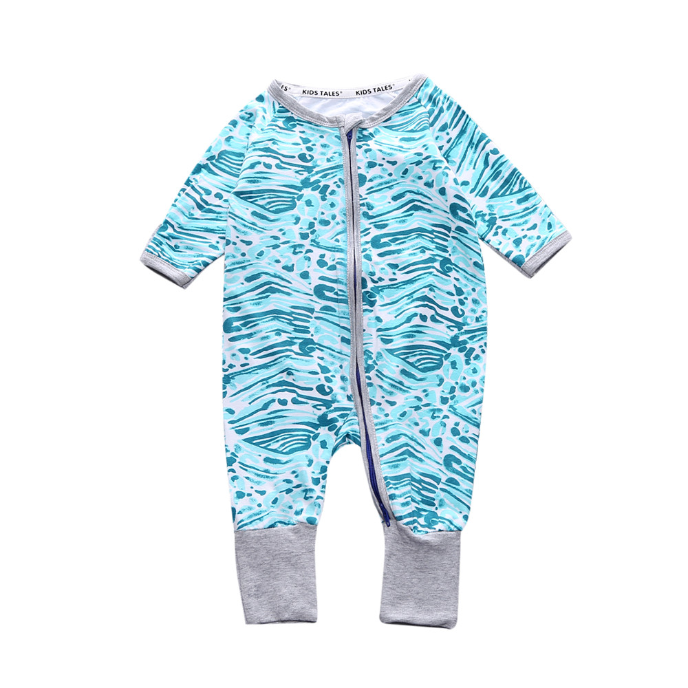 Kids Tales unisex new born baby clothes 6M 9M 12M 18M 24M COTTON costume baby boy girls romper with zipper Long Sleeve jumpsuits