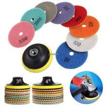 "2017 Diamond Polishing Pad Granite Marble Concrete Stone Grinding Discs 4"" 9Pcs/SET MAR11_30(China)"