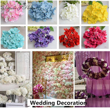 99pcs/lot luxury artificial  Hydrangea silk flower Amazing colorful decorative flower for wedding party Birthday decoration