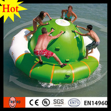 dia3m inflatable saturn rocker UFO balloon for adult inflatable water park 0.9mm PVC tarpaulin air sealed(China)