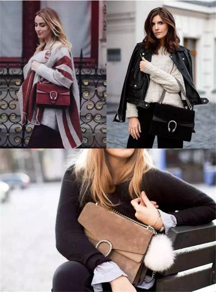 Fashion Chic Designer Handbag Women Dionysus Suede and Leather Shoulder Bag (1)