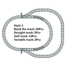 NEW Toys for Children Ausini Building Blocks Rail Tracks for Train Straight & Curved Tracks to Make One Circle Lepin Compatible