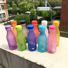 Hot Sale 550ML Candy Colord Portable Plastic My Water Bottle Tour Sport Lemon Juice Kettle Drinkware High Quality BPA Free(China)