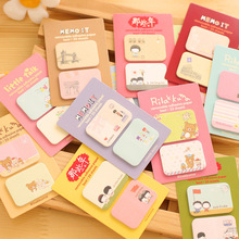 1PCS Cute Kawaii mini Memo Pads Sticky Notes Post It Diary Planner and Office Stationery Stickers Scrapbooking School Supplies(China)