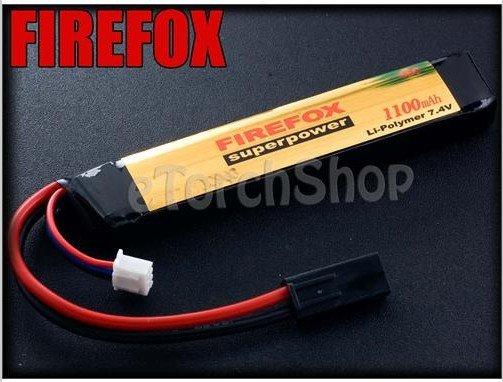 100% Orginal FireFox 7.4V 1100mAh 15C Li Po AEG Airsoft Battery+HK register free shipping<br><br>Aliexpress