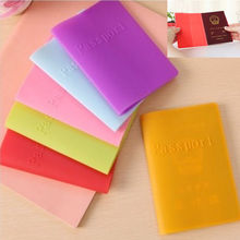 New Waterproof Colorful Silicone Passport Cover Case Travel Ticket Holder #71176