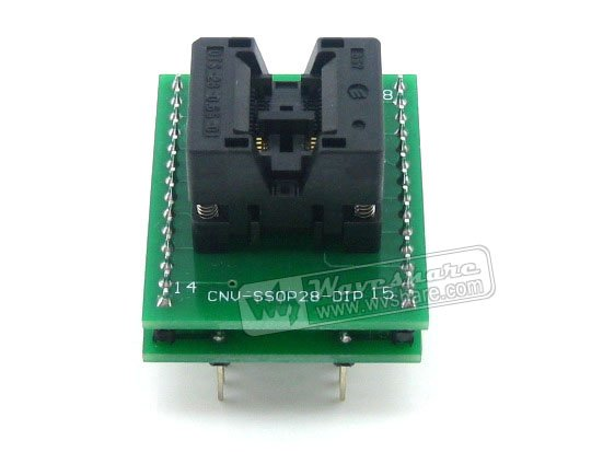 Parts SSOP8 TO DIP8 TSSOP8 Enplas IC Test Socket Programming Adapter 0.65mm Pitch<br>