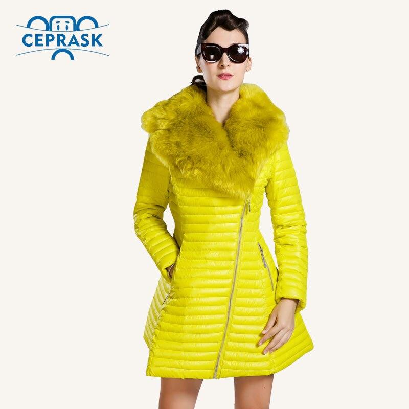 CEPRASK 2016 New Winter Jacket Women Plus Size Long Womens Winter Down Coat Fur collar Warm Down Jacket Parka European StyleОдежда и ак�е��уары<br><br><br>Aliexpress