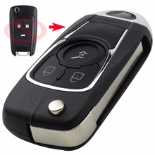 Modified Flip Key Shell For Chevrolet Cruze for Buick VAUXHALL OPEL Insignia Astra J Zafira C Mokka 3BTN Folding Remote Fob Case