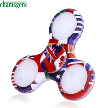 CHAMSGEND funny Multicolor LED Light Fidget Hand Spinner Torqbar Finger Toy EDC Gyro Fast Shipping gift may 22 P30