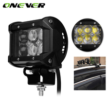4 Inch 30W Car LED Work Light Offroad Driving Fog Lamp Car Motorcycle Bicycle SUV ATV 4WD 4X4 UTE Auto UTV Spot Flood Headlight(China)