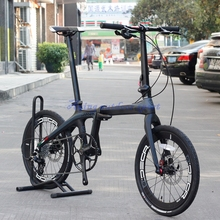 "JAVA AIR 20"" 406 Carbon Folding Bike Mini velo Bicycle Urban Commuter Bike Disc Brakes 11S(China)"