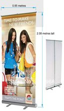 Scrolling roll up banners, roll up stand banner(with printed your graphic or logo), MOQ: 1 set