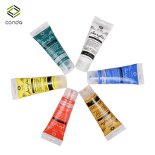 Acrylic Paint Set 75ml 6 tube CONDA Paint for Fabric Studio Set Dye for Clothing Paper Stretched Canvas Wood Pigment Glass Paint(China)
