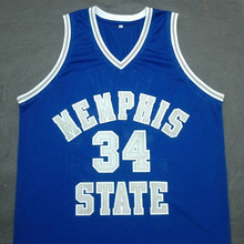 ELLIOT PERRY Memphis State Blue Basketball Jersey Embroidery Stitched Customize any size and name(China)