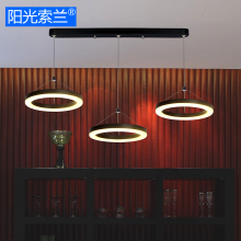 Modern LED Lighting 36W Black and White Three Rings chandelier for diningroom bar table study AC90V-260V ceiling chandelier