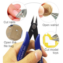 1Pc Cutting Hand Tool Electrical Wire Cable Cutters Mini Nose Cutting Nipper Plier Metal Puzzle Modeling Work Side
