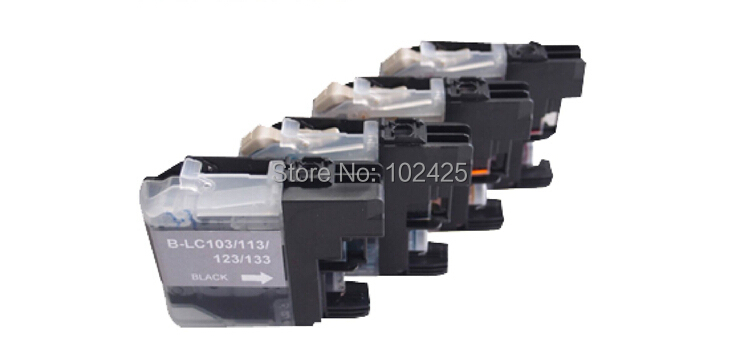 4X compatible ink cartridges B-LC103 with chip for Brother MFC-J4310DW/ J4410DW/ J4710DW/ J6920DW/ DCP-J152W printer<br><br>Aliexpress