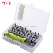 32 in1 Torx Precision Screwdriver Set For Mobile Phone Laptop PC Repair Tool Kit #S018Y# High Quality