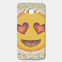 High Quality Cell phone case For Samsung Galaxy 2016 J5 J7 J3 J1 A3 A5 A7 Case Hard PC Emoji SmilePatterned Cover(China)